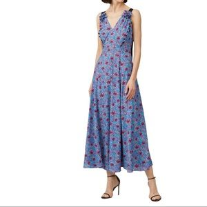 Like New Prabal Gurung  chiffon maxi   dress blue